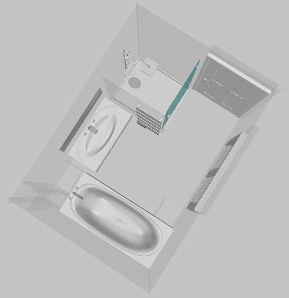 sdb bois colombes le projet en 3d. Black Bedroom Furniture Sets. Home Design Ideas